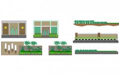 landscape elevation walls