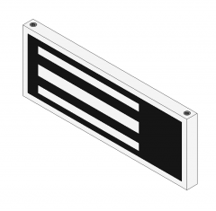 Magnetic door lock Revit model
