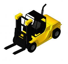 Forklift truck Revit model