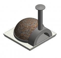 Brick pizza oven Revit model