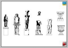 statues, monuments, art, landscaping-AUTOCAD-2D