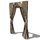 Bronze long curtains(166) skp