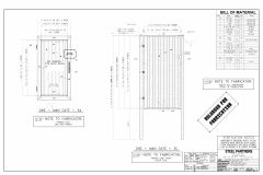 STEEL GATE SHOP DRAWINGS, DOWNLOAD THE CAD FILE, BUILD THE GATE
