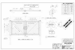TRASH ENCLOSURE GATES