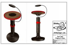 DECORATIVE STAND (UNIVERSAL) CIGAR THEME ASHTRAY STAND, GAME ROOM PIECE DOWNLOAD AND BUILD THIS CIGAR STAND FOR HOLDING AN ASHTRAY.   VASE STAND, COLLECTABLE