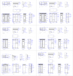 Wardrobes design CAD collection dwg