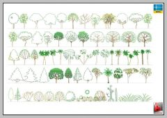 TREES, BUSHES LANSCAPING -AUTOCAD-2D