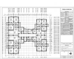 Apartment building working drawing
