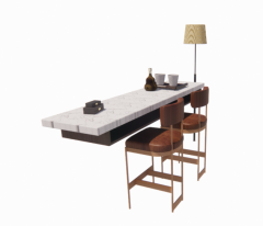 Set-up restaurant table and chair revit family