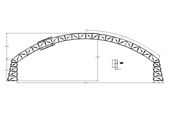 Arched bridge design dwg