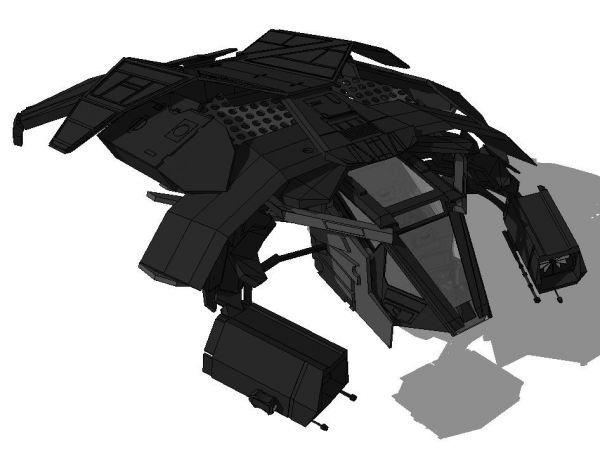 Batman - Batwing sketchup model