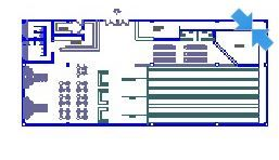 Bowling alley in top view dwg model
