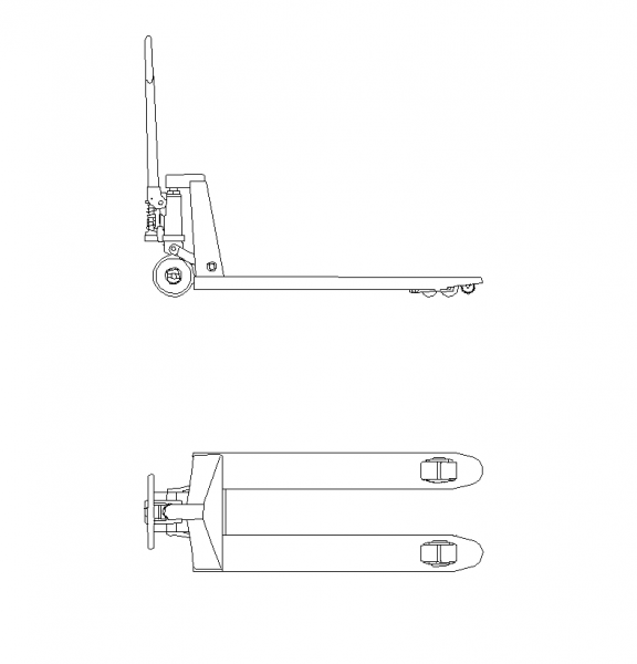 Pallet truck plan and elevation DWG