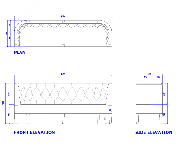 Banquette seat dwg