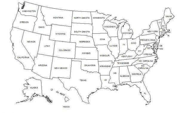 50 Unidos de América Mapa
