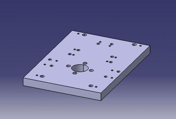 848 Placa base Modelo CAD dwg. dibujo