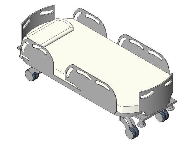 Bed Healthcare Patient Revit Family 2