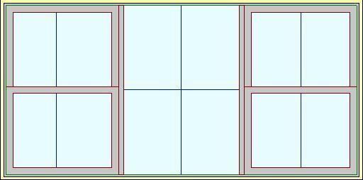 Окно с двумя окнами Revit Family 4