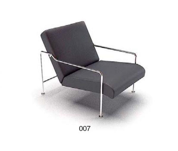 Black cushion armchair skp