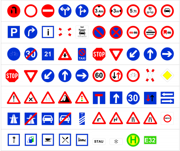 German road signs CAD collection dwg