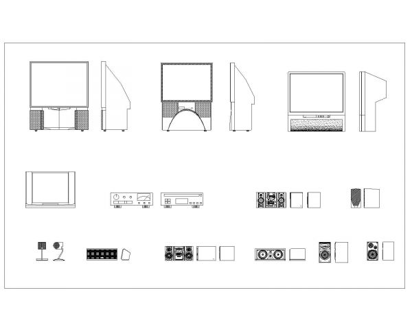 Home Theater System with Loud Speakers_1 .dwg