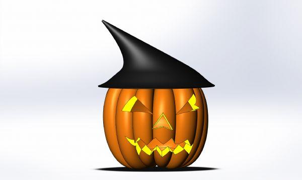 Modelo de calabaza de halloween en solidworks