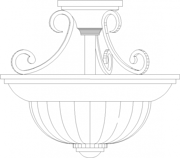 Traditional Dining Light Front Elevation dwg Drawing