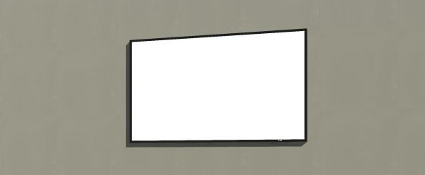 55 Inches Wall TV Revit Family