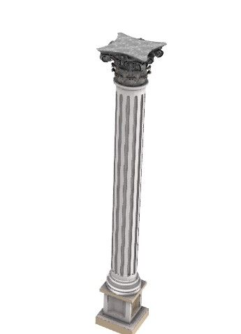 Aesthetic designed column for support 3d model .3dm format