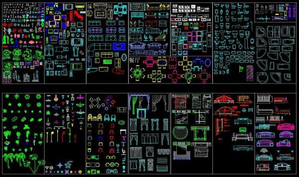 Pacchetto CAD di Interior Design V1
