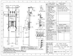 MV DREIPHASIGE H-POLE-TRANSFORMATORSTRUKTUR 11 kV UND 33 kV