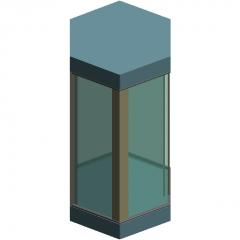 Hexagon Sightseeing elevator revit family