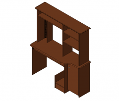 Computer Furniture with Pedestal Revit Family