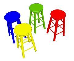 Kitchen  / Bar stool Sketchup model