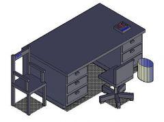 Büro-Schreibtisch-Layout
