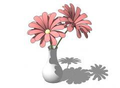 Flores en florero modelo de SketchUp
