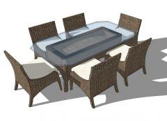 Outdoor Wicker Furniture sketchup model