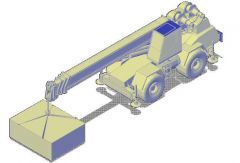 トラッククレーン3D CADブロック