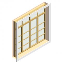 Casement window revit family