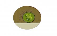 Pérgola circular paisaje