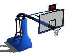 modelo de SketchUp anillo de baloncesto de la NBA