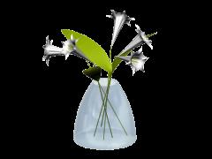 花付き花瓶3DS Maxモデル