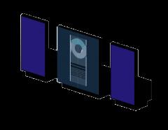 Hi Fi system 3ds max block