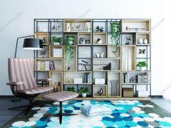 组合柜和书柜3ds Max