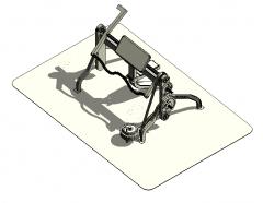 Preacher Curl machine sketchup model