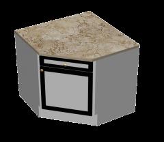 Unidade de cozinha de canto bloco maxima 3d