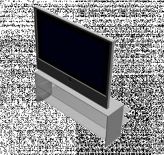 Телевизор с плоским экраном на стенде 3ds Max модели