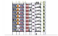 sección de edificio residencial