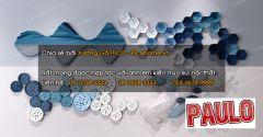 墙壁艺术金属蓝色和白色装饰3ds Max