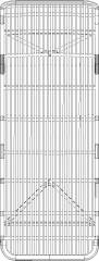 1000mm Wide Outdoor Chair Made of Rattan Plan dwg Drawing